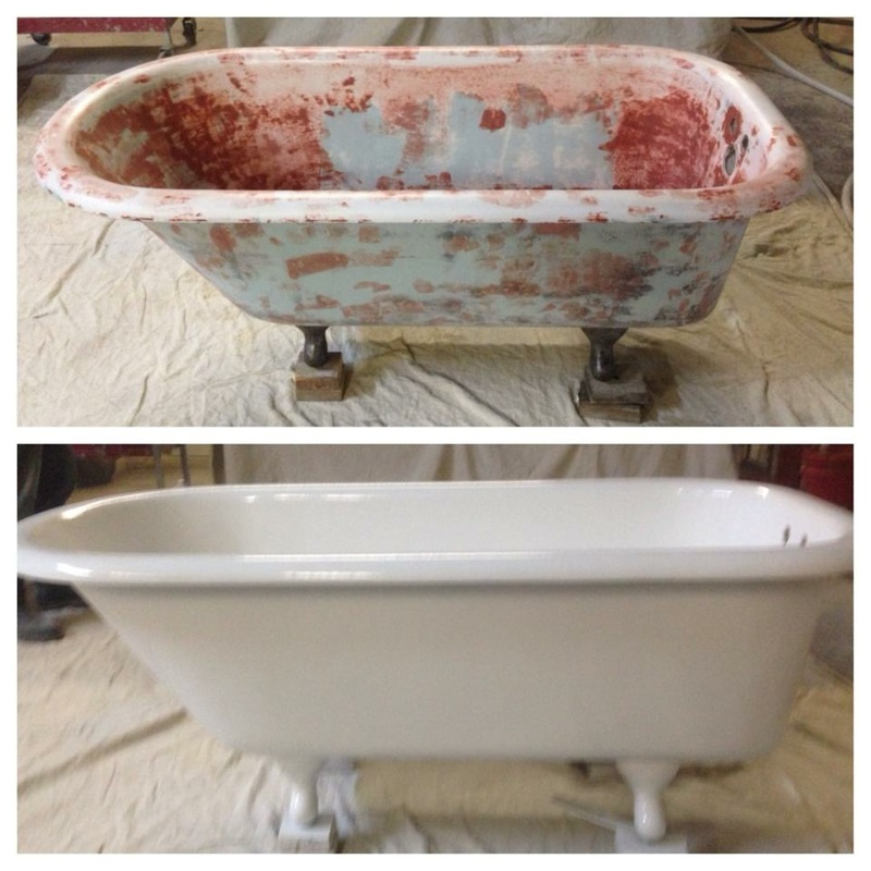 Claw foot tub repair / resurfacing - Memphis, Germantown ...
