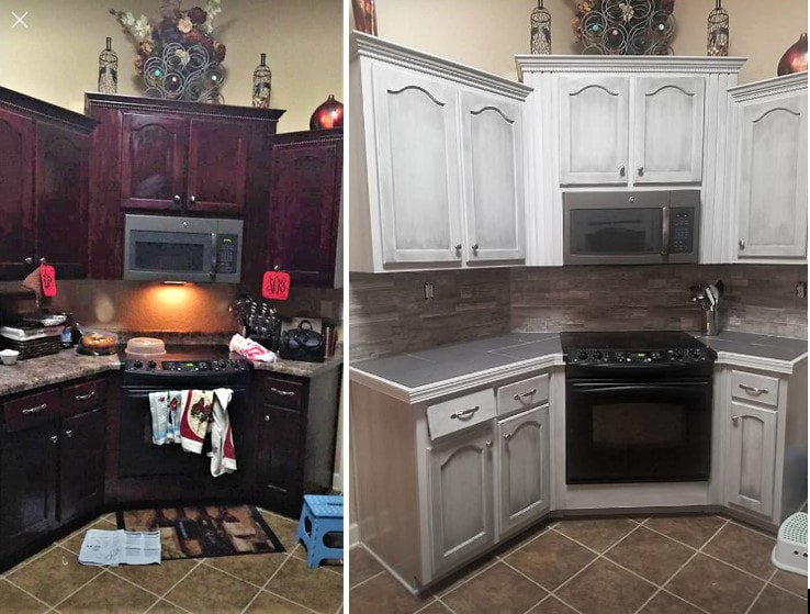 We Provide Beautiful Custom Kitchen And Bathroom Cabinet Makeovers. A  Little Paint In Your Kitchen Can Go A Long Way.